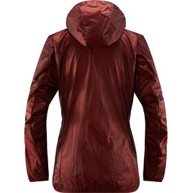Haglöfs Aran Valley Jacket Dame Maroon Red/Hibiscus Red